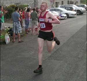Dan Allen of TRC winning his class at Sheldon fell Race